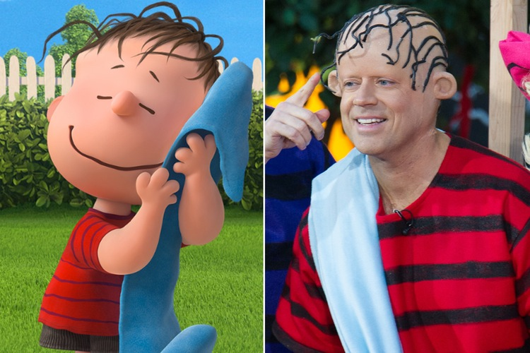 carson daly today show halloween peanuts linus